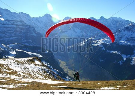 Take-Off Of A Paraglider
