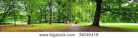 Park im Herbst Zeit - Panoramablick