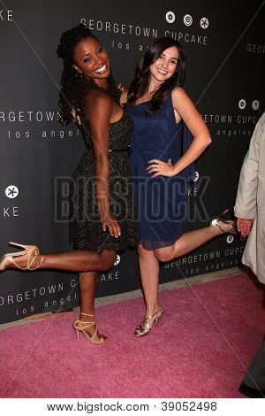 LOS ANGELES - NOV 15:  Shanola Hampton, Laura Breckenridge arrives for the Georgetown Cupcakes Los Angeles Grand Opening at Georgetown Cupcake Los Angeles on November 15, 2012 in Los Angeles, CA