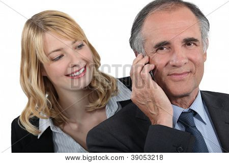 Woman admiring her boss