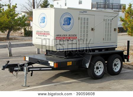 Disaster relief services electrical generator