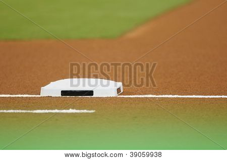 Base At Baseball Field