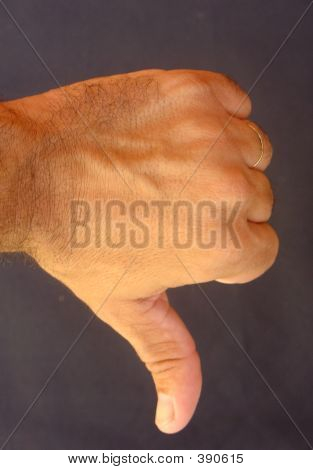 Negative Sign With The Hand