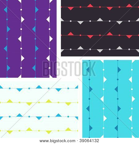 artistic seamless background with triangles on lines