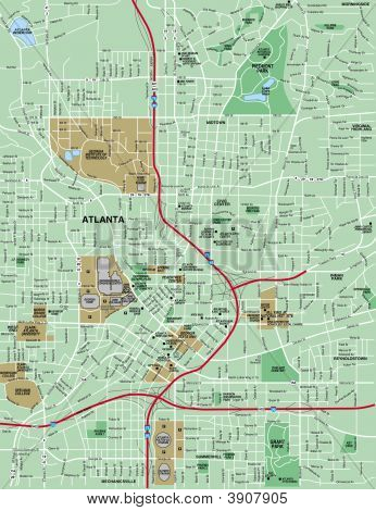 Downtown Atanta Map