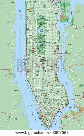 New York - Manhattan Map