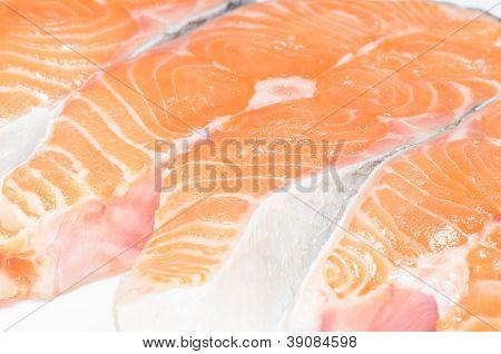 Salmon Fish Sliced
