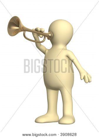 3D Puppet Trumpeter