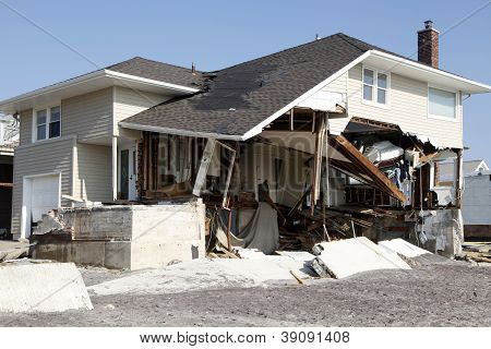 Hurricane Sandy destruction
