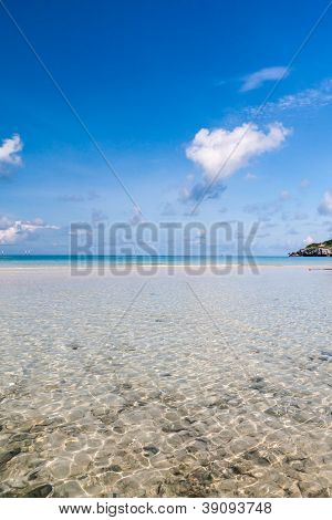 Tropical Sea With Blue Sky Vertical