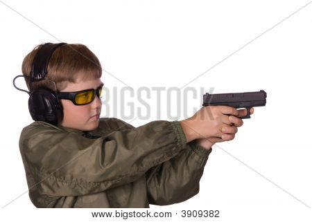 Boy And Gun Safety