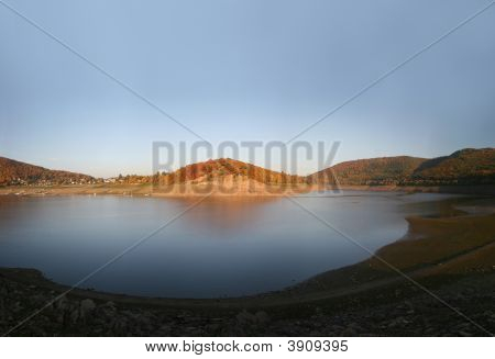 Reservoir Edersee In Germany