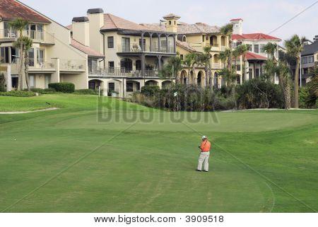 Golf Fairway With Condos