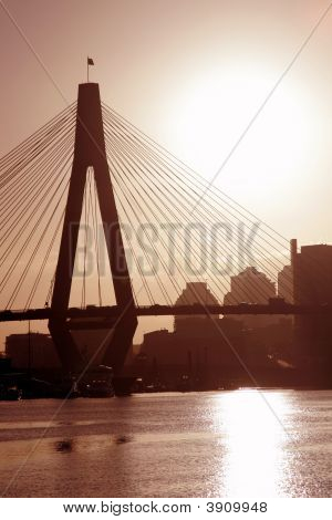 Anzac Bridge In Evening Light