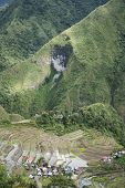 stock photo of ifugao  - traditional terraced rice fields in ifugao village of batad in banaue mountain province of northern luzon in the philippines - JPG