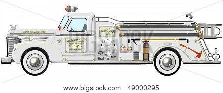 Vintage Fire Engine Pumper