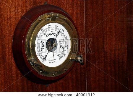 Vintage Marine Barometer