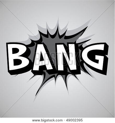 Comic Book Explosion Bubble - Bang
