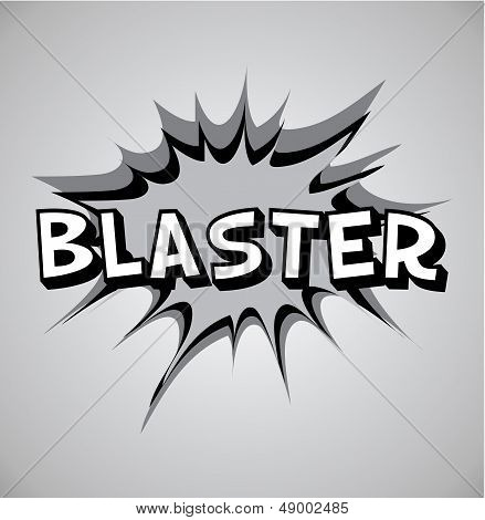 Comic Book Explosion Bubble - Blaster