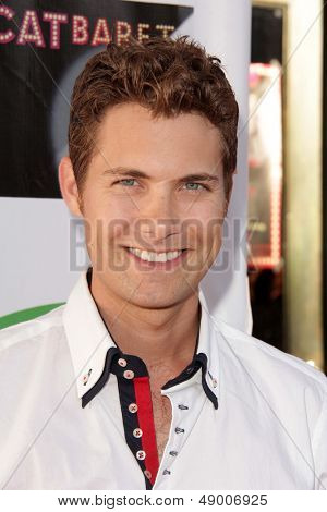 LOS ANGELES - AUG 4:  Drew Seeley arrives at L.A.'s Feline Rescue Center's