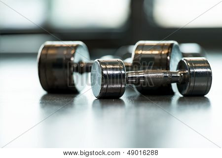 Dumbbells On Floor