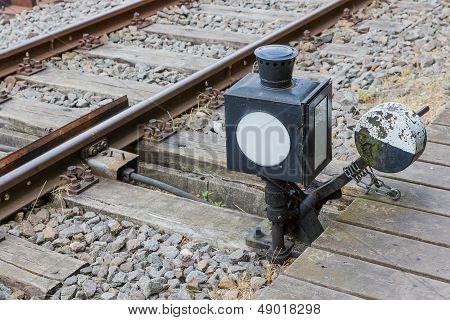 Old Manually Control Device For A Railway Switch
