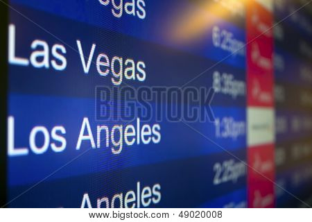 Going to Las Vegas or Los Angeles