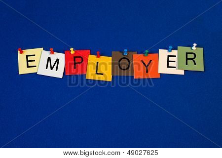 Employer - Sign Or Poster For Business.