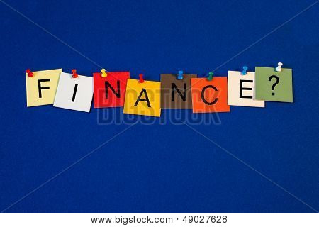 Finance - Sign Series For Business / Education.