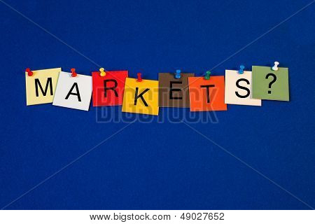 Markets - Sign For Business Terms.