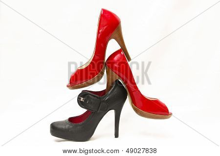 Red and Black High Heel Tower