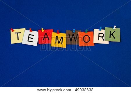 Teamwork - Sign Series For Business Terms.