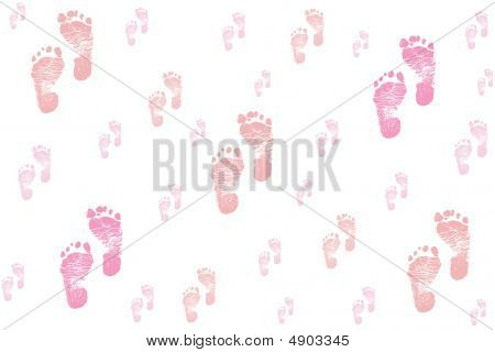 Shades Of Pink Baby Feet