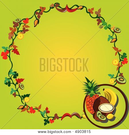 Tropical Fruit Wreath