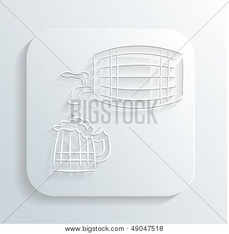 Oktoberfest beer keg icon vector