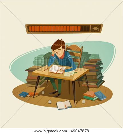 Self education. Vector illustration.