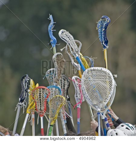 Girls Lacrosse Sticks To The Sky