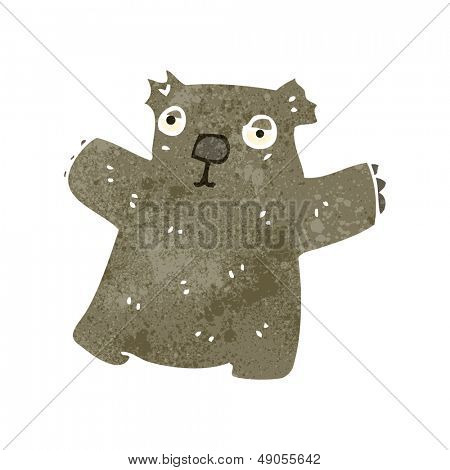 retro cartoon wombat