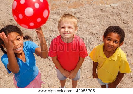 Kids with a ball