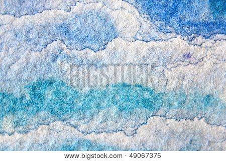 Blue Watercolor Cloud Background 2