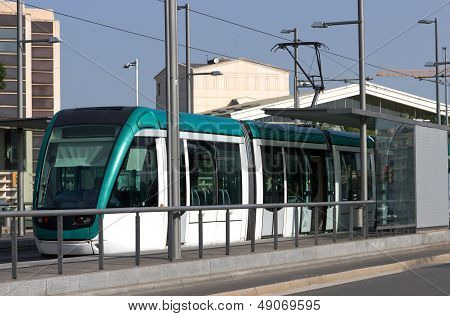 Tram In Barcelona, Spain