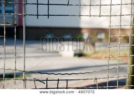 Fence With Rectangular Hole.