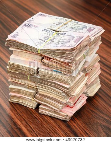 Indian Rupees Stack