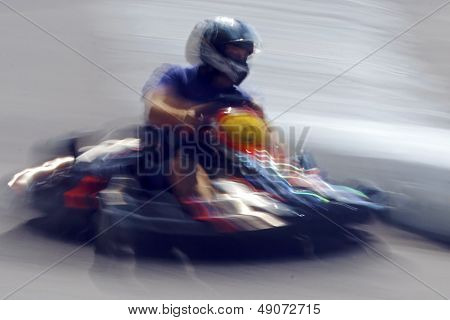 Abstract Blurred Motion Cart Man 2