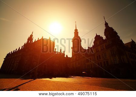 Old buildings in city of Dresden, Germany