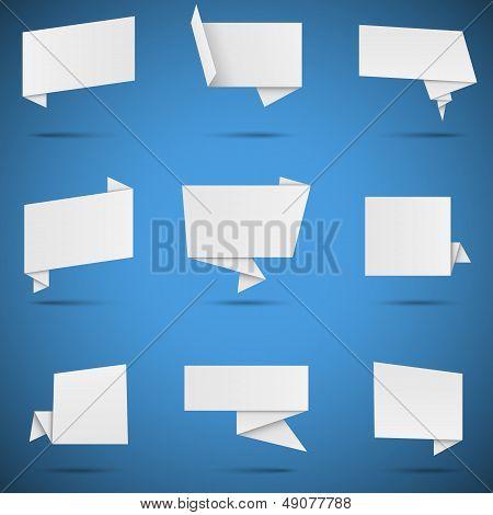 White Origami Speech Bubbles