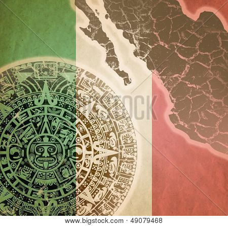 Background With Mayan Calendar