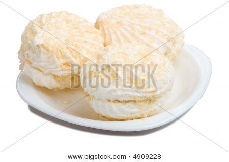 Three Marshmallow On Plate