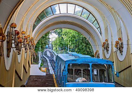 Funicular System From Podol To The Upper City In Kyiv.