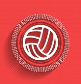 picture of volleyball  - Vector volleyball icon flat modern design - JPG